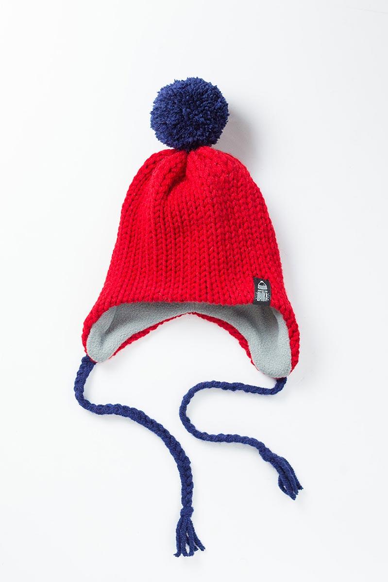 Вязаная шерстяная шапка Канада цвет красный