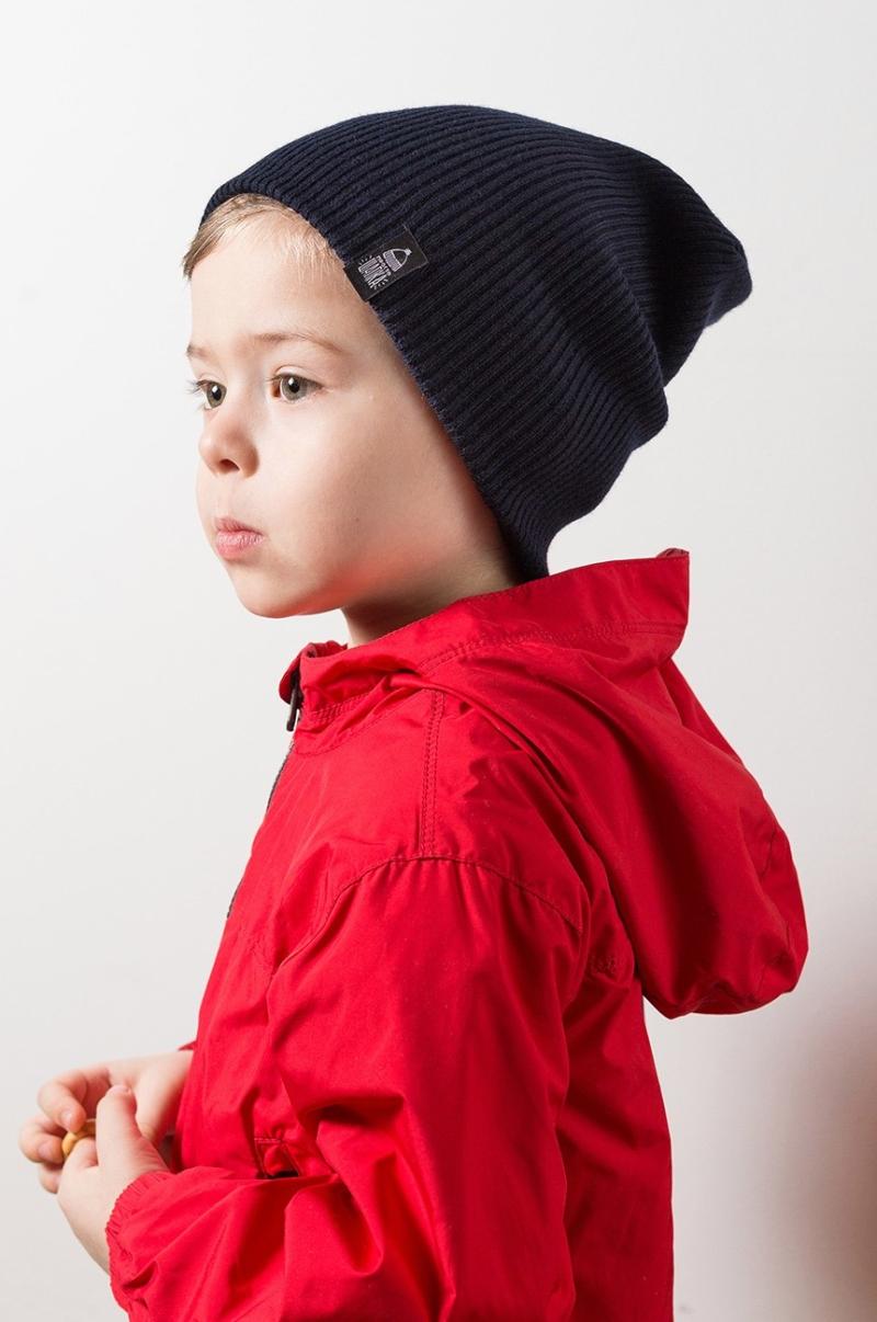 ТОКИО, вязаная двухслойная шапка на ребенке. Цвет черный. Шапка как у Монатика, Кусто. Beanie hat. Watch cap. Морячка