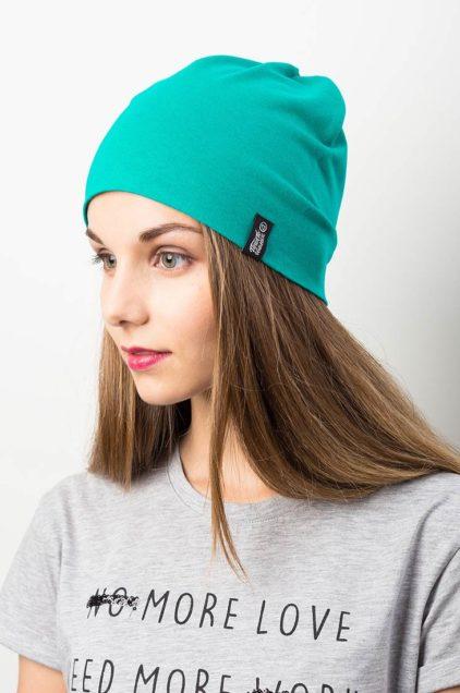 """Трикотажная шапка """"Ливерпуль"""". Цвет зеленый холодный"""