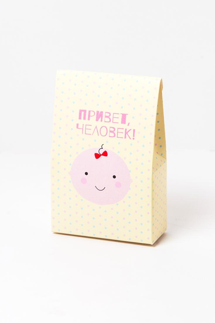 Коробка Привет человек, цвет жёлтый, упаковка