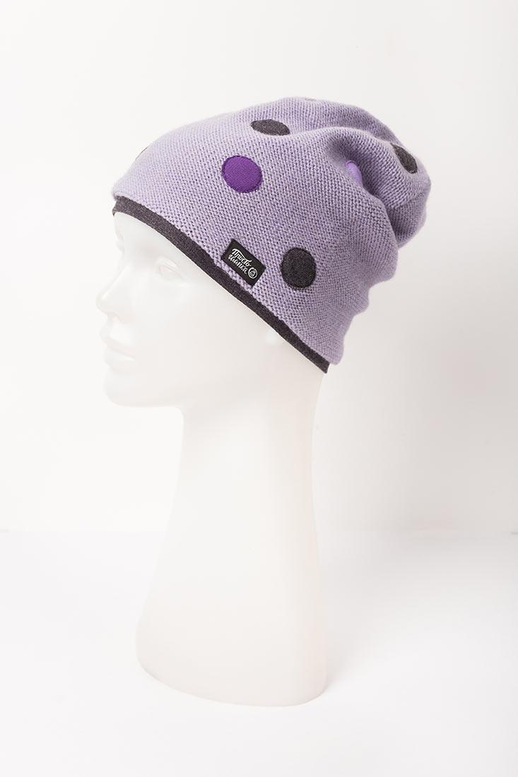 """Вязаная шапка """"Палермо"""". Цвет лаванда, фиолетовый"""