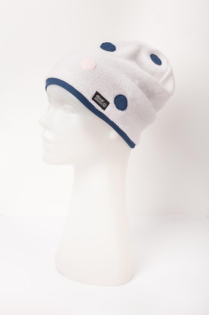 """Вязаная шапка """"Палермо"""". Цвет белый"""