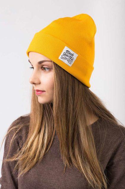 Шапка трикотажная Магеллан. Цвет желтый. Женская, мужская, детская шапка