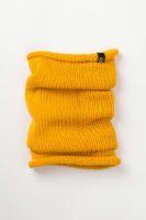 """Вязаный шерстяной снуд цвет желтый. Коллекция """"Гринвич"""""""
