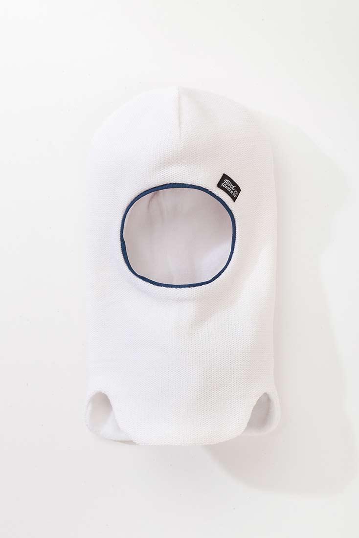 """Шапка-шлем """"Палермо"""" белого цвета"""