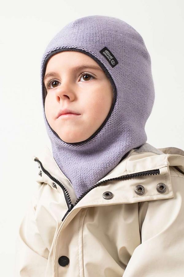 """шапка-шлем """"Палермо"""" цвет - лаванда"""