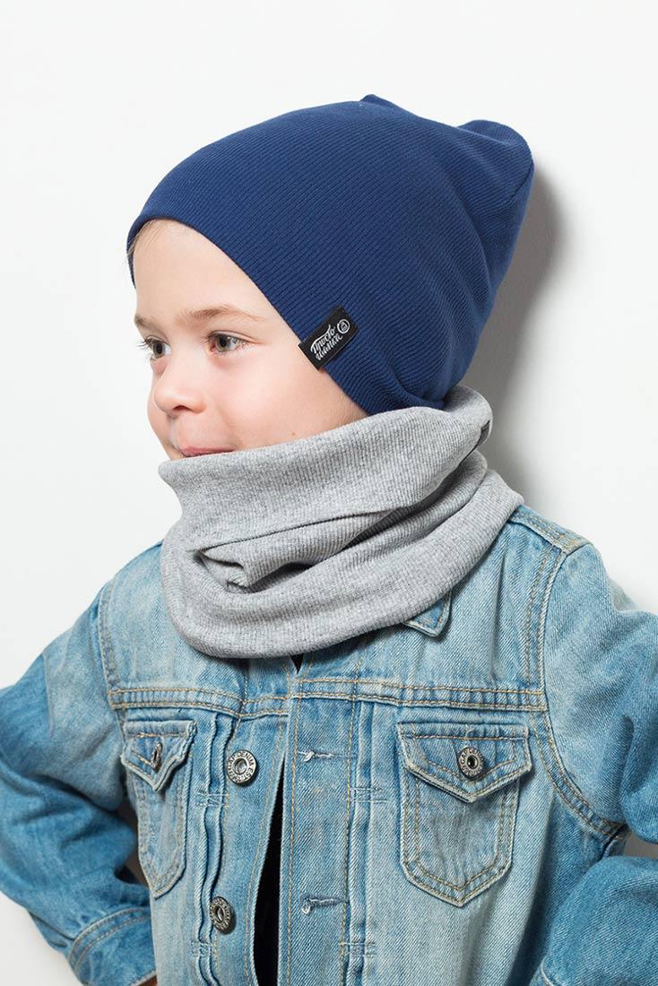 """Комплект шапки и снуд """"Магеллан"""" на ребенке"""
